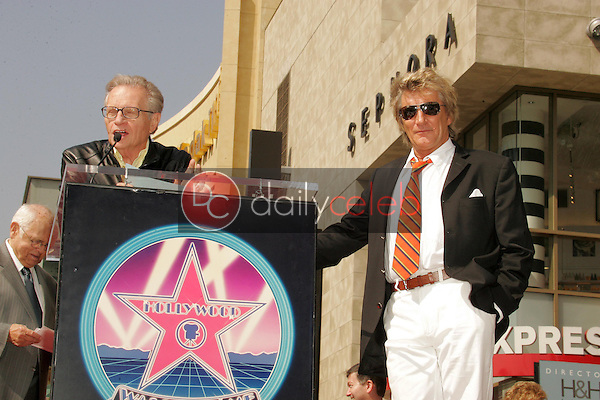 Larry King with Rod Stewart<br />