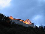 Abendstimmung in Vaduz, Schloss Vaduz..Photo: Paul Trummer