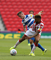 Stoke City's Sam Clucas and Queens Park Rangers' Josh Scowen <br /> <br /> Photographer Stephen White/CameraSport<br /> <br /> The EFL Sky Bet Championship - Stoke City v Queens Park Rangers - Saturday 3rd August 2019 - bet365 Stadium - Stoke-on-Trent<br /> <br /> World Copyright © 2019 CameraSport. All rights reserved. 43 Linden Ave. Countesthorpe. Leicester. England. LE8 5PG - Tel: +44 (0) 116 277 4147 - admin@camerasport.com - www.camerasport.com