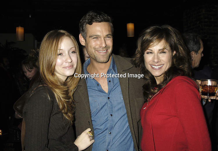 """Jennifer Ferrin, Grayson McCouch and Marie Wilson ..at a record release party for Martha Byrne's new CD """"The Other Side""""  on November 2, 2005 at Soho 323...Photo by Robin Platzer, Twin Images"""