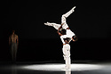 London, UK. 26.06.2018. Nederlands Dans Theater 1 presents a mixed bill at Sadler's Wells theatre, comprising work by Leon & Lightfoot, Pite and Goecke. The piece shown is: STOP MOTION, by Leon and Lightfoot. The dancers are: Roger Van Der Poel, Jorge Nozal, Jianhui Wang, Meng-Ke Wu, Sarah Reynolds, Chloe Albaret, Prince Credell, Marne van Opstal. Picture shows: Prince Credell, Roger Van der Poel. Photograph © Jane Hobson.