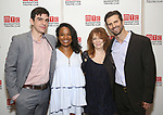Bobby Moreno, Eboni Booth, Deirdre O'Connell and Frederick Weller attend the Opening Night photo call for 'Fulfillment Center' at New York City Center – Stage II on June 20, 2017 in New York City.