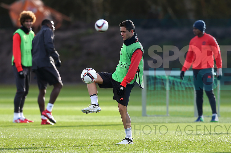 Ander Herrera of Manchester United during the UEFA Europa League training session at the AON Training Complex, Manchester. Picture date: November 23rd 2016. Pic Matt McNulty/Sportimage