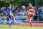 18.07.2018, Voehlinstadion, Illertissen, GER, FSP, FV Illertissen - VfB Stuttgart, im Bild Markus Bolkart (Illertissen, #19), Borna Sosa (Stuttgart, #24)<br /> <br /> Foto &copy; nordphoto / Hafner