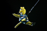 October 24, 2011:   Jacksonville Jaguars mascot Jaxson DeVille enters the field before the start of action between the Jacksonville Jaguars and the Baltimore Ravens played at EverBank Field in Jacksonville, Florida.  ........