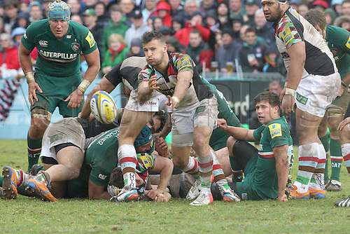 11.05.2013 Leicester, England. Harlequins Danny Care in action during the Aviva Premiership Semi Final game between Leicester Tigers and Harlequins from Welford Road.