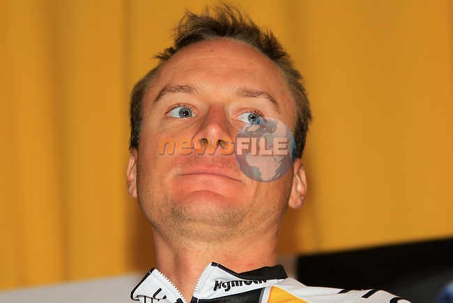 Team rider Danny Pate (USA) at the HTC Highroad team press conference before the start of the 2011 Tour de France, 1st July 2011 (Photo by Eoin Clarke/NEWSFILE)
