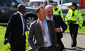 June 10th 2017, Hampden park, Glasgow, Scotland; World Cup 2018 Qualifying football, Scotland versus England; Lee Dixon and Ally McCoist arrive to commentate on the match