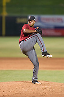 AZL Diamondbacks relief pitcher Ezequiel De La Cruz (14) delivers a pitch during an Arizona League game against the AZL Angels at Tempe Diablo Stadium on July 16, 2018 in Tempe, Arizona. The AZL Diamondbacks defeated the AZL Angels by a score of 4-3. (Zachary Lucy/Four Seam Images)