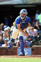 Lexington Legends catcher Chad Johnson (7) throws down to third during a game against the Hagerstown Suns on May 19, 2014 at Whitaker Bank Ballpark in Lexington, Kentucky.  Lexington defeated Hagerstown 10-8.  (Mike Janes/Four Seam Images)