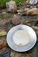 Gold Panning in a stream in Hatcher Pass, Alaska