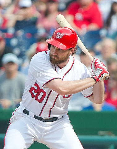 Washington Nationals second baseman Daniel Murphy (20) bats in the first inning against the Chicago Cubs at Nationals Park in Washington, D.C. on Wednesday, June 15, 2016.<br /> Credit: Ron Sachs / CNP/MediaPunch ***FOR EDITORIAL USE ONLY***