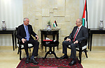 Palestinian Prime Minister Rami Hamdallah meets with ambassador of the Czech Republic to Palestine Peter Stari, at his office in the West Bank city of Ramallah, on July 09, 2017. Photo by Prime Minister Office