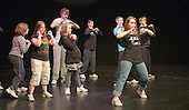 """On Fire"" street dance group rehearsing.  Special Olympics Surrey put on a show,   ""Beyond the Stars"", at the Rose Theatre, Kingston upon Thames to raise money for the  SOGB team.  The Special Olympics are for athletes with learning disabilities."