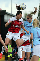 Janine Beckie of Manchester City Women and Viktoria Schnaderbeck of Arsenal Women during Arsenal Women vs Manchester City Women, FA Women's Super League Football at Meadow Park on 11th May 2019