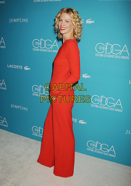 BEVERLY HILLS, CA - FEBRUARY 17: Actress January Jones attends the 17th Costume Designers Guild Awards at The Beverly Hilton Hotel on February 17, 2015 in Beverly Hills, California.<br /> CAP/ROT/TM<br /> &copy;TM/ROT/Capital Pictures