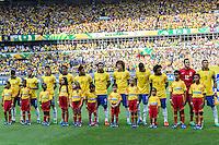 BELO HORIZONTE, MG, 26 JUNHO 2013 - COPA DAS CONFEDERACOES -  BRASIL X URUGUAI -  jogadores da Seleção Brasileira antes da partida contra o Uruguai, jogo válido pelas Semi-finais da competição, no Estadio Mineirao em Belo Horizonte, Minas Gerais nesta Quarta, 26 (FOTO: NEREU JR / BRAZIL PHOTO PRESS).