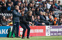 Wycombe Wanderers Manager Gareth Ainsworth during the Sky Bet League 2 match between Barnet and Wycombe Wanderers at The Hive, London, England on 17 April 2017. Photo by Andy Rowland.