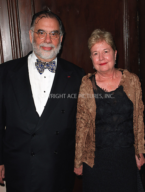Frencis Ford Coppola and wife arrive at Waldorf-Astoria for the 3rd Annual Directors Guild of America Awards. New York, June 9, 2002. Please byline: Alecsey Boldeskul/NY Photo Press.   ..*PAY-PER-USE*      ....NY Photo Press:  ..phone (646) 267-6913;   ..e-mail: info@nyphotopress.com