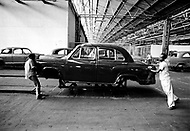 April 1975 - Ambassador Car Factory near Calcutta (now Kolkata) India.