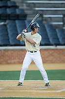 Stuart Fairchild (4) of the Wake Forest Demon Deacons at bat against the UConn Huskies at Wake Forest Baseball Park on March 17, 2015 in Winston-Salem, North Carolina.  The Demon Deacons defeated the Huskies 6-2.  (Brian Westerholt/Four Seam Images)