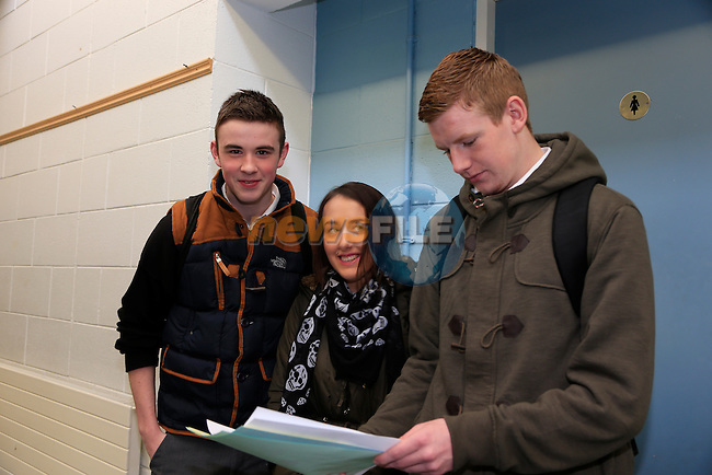 Tony O'hare<br /> Danielle Philips<br /> Nathan Murray at the open day in Drogheda college for further education.<br /> Picture: Fran Caffrey www.newsfile.ie