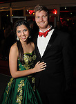 Duchess Sarah Silva and Cramer Eaves at the San Luis Salute to Mardi Gras in Galveston Friday Feb. 13,2015.(Dave Rossman Photo)