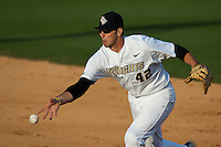February 25, 2012: UCF if/rhp D.J. Hicks (42) during non conference NCAA baseball game action between the Boston College Eagles and the Central Florida Knights. Boston defeated UCF in game 2 8-7 at Jay Bergman Field in Orlando, FL