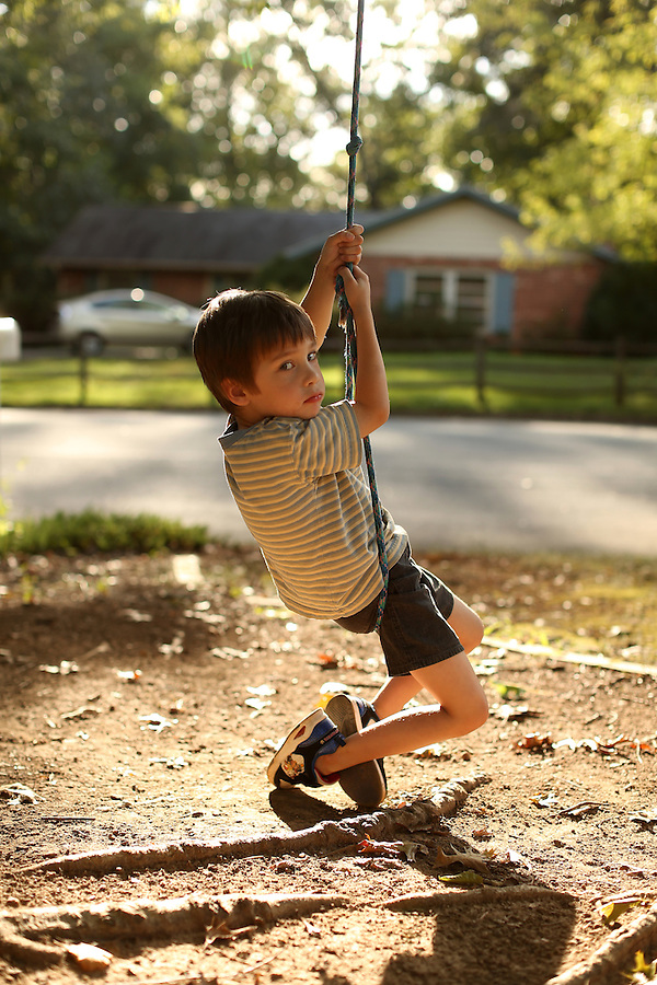 Cohen, Cooper on front swing at home in Albemarle County, Va. Photo/Andrew Shurtleff