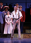"Clifton Duncan during the final performance curtain call for the New York City Center Encores! at 25 production of  ""Hey, Look Me Over!"" on February 11, 2018 at the City Center Theatre in New York City."