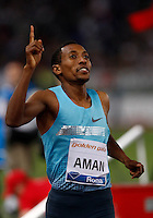 Golden Gala di atletica leggera allo stadio Olimpico di Roma, 6 giugno 2013.<br /> Ethiopia's Mohammed Aman wins the men's 800 meters race at the Golden Gala IAAF athletics meeting at Rome's Olympic stadium, 6 June 2013.<br /> UPDATE IMAGES PRESS/Isabella Bonotto