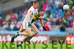 Jonathan Lyne, Kerry in Action Against Padraig McNulty, Tyrone in the All Ireland Semi Final at Croke Park on Sunday.