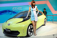 Toyota compact Hybrid FT-CH at Beijing Auto Show 2010. The car show has attracted all the world's major auto markers. China's vehicle sales have breached the 10-million barrier for the first time ever, with 10.9 million automobiles sold last year. .24 Apr 2010