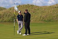 Ronan Mullarney (Galway) winner of the AIG Irish Amateur Close Championship 2019 being interviewed by Alan Kelly (GUI) in Ballybunion Golf Club, Ballybunion, Co. Kerry on Wednesday 7th August 2019.<br /> <br /> Picture:  Thos Caffrey / www.golffile.ie<br /> <br /> All photos usage must carry mandatory copyright credit (© Golffile | Thos Caffrey)