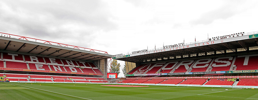 A general view of The City Ground, home of Nottingham Forest<br /> <br /> Photographer David Shipman/CameraSport<br /> <br /> Football - The Football League Sky Bet Championship - Nottingham Forest v Hull City - Saturday 3rd October 2015 - The City Ground - Nottingham<br /> <br /> &copy; CameraSport - 43 Linden Ave. Countesthorpe. Leicester. England. LE8 5PG - Tel: +44 (0) 116 277 4147 - admin@camerasport.com - www.camerasport.com