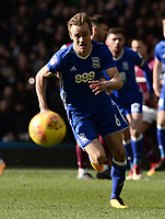 Maikel Kieftenbeld of Birmingham chases down the ball during the Sky Bet Championship match between Aston Villa and Birmingham City at Villa Park, Birmingham, England on 11 February 2018. Photo by Bradley Collyer/PRiME Media Images.