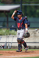 Atlanta Braves catcher Lucas Herbert (2) during an Instructional League game against the Philadelphia Phillies on October 9, 2017 at the Carpenter Complex in Clearwater, Florida.  (Mike Janes/Four Seam Images)
