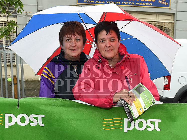 Tina Martin and Nora Gargan at Stage seven of An Post Rás 2017 in Ardee. Photo:Colin Bell/pressphotos.ie