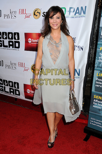 Cheri Oteri.9th Annual GLAD Benefit Extravaganza held at the House of Blues, West Hollywood, California, USA..June 5th, 2011.full length dress grey gray lace halterneck .CAP/ADM/BP.©Byron Purvis/AdMedia/Capital Pictures.