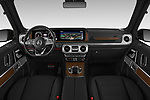 Stock photo of straight dashboard view of 2019 Mercedes Benz G-Class G-550 5 Door SUV Dashboard