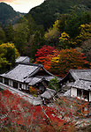 Artistic autumn scenery of Nanzen-ji Buddhist temple complex building rooftops in Sakyo-ku, Kyoto, Japan 2017 Image © MaximImages, License at https://www.maximimages.com