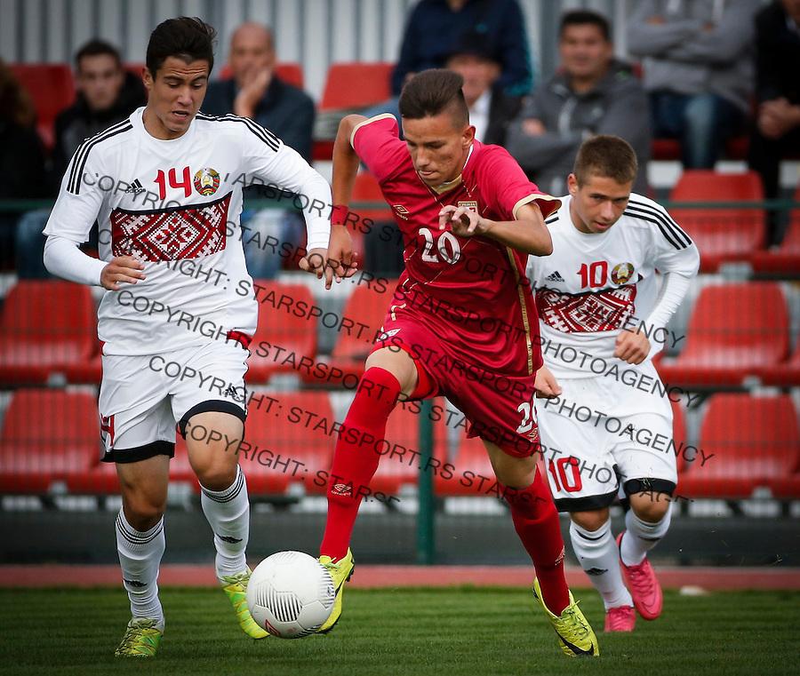 Fudbal Soccer<br /> International Friendly-Prijateljski mec<br /> Srbija U17 v Belorusiaj U17<br /> Mihajlo Neskovic (C)<br /> Stara Pazova, 20.09.2016<br /> foto: Srdjan Stevanovic/Starsportphoto &copy;
