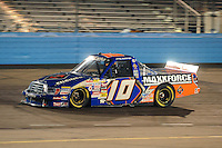 Nov. 13, 2009; Avondale, AZ, USA; NASCAR Camping World Truck Series driver James Buescher during the Lucas Oil 150 at Phoenix International Raceway. Mandatory Credit: Mark J. Rebilas-