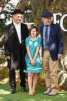 "Mark Rylance, Ruby Barnhill and Steven Spielberg<br /> arrives for the ""BFG"" premiere at the Odeon Leicester Square, London.<br /> <br /> <br /> ©Ash Knotek  D3141  17/07/2016"