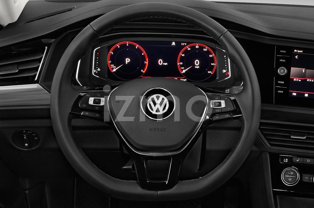 Car pictures of steering wheel view of a 2019 Volkswagen Jetta SEL 4 Door Sedan