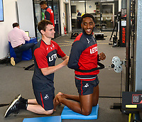 Swansea City's Leroy Fer in the gym on his first day back for the new season.