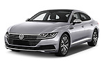 2018 Volkswagen Arteon Elegance 5 Door Hatchback Angular Front stock photos of front three quarter view
