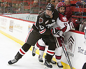Ben Tegtmeyer (Brown - 13), Kyle Criscuolo (Harvard - 11) (Vesey) - The Harvard University Crimson defeated the Brown University Bears 4-3 to sweep their first round match up in the ECAC playoffs on Saturday, March 7, 2015, at Bright-Landry Hockey Center in Cambridge, Massachusetts.