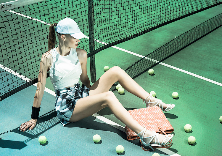 Fashion With Mirella, Tennis Fashion at Next Generation Tennis Courts, Models.Grace and Fiona Dawson's  Photo: Nick Clayton