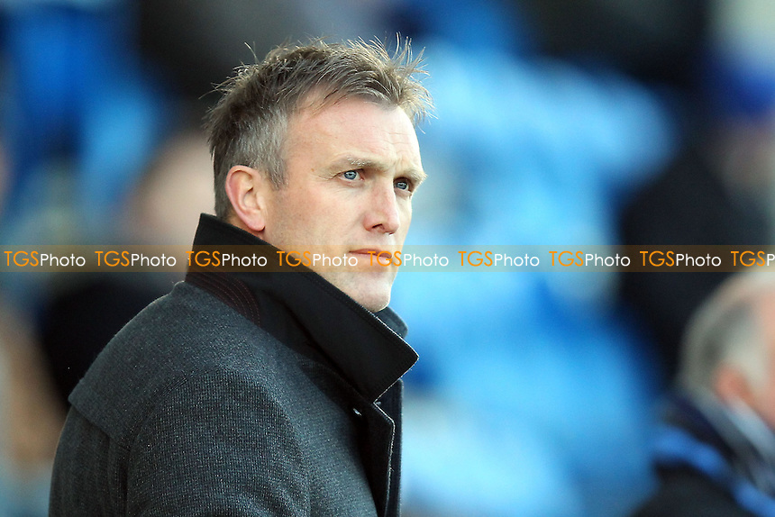 Crewe manager Steve Davis - Colchester United vs Crewe Alexandra - Sky Bet League One Football at the Weston Homes Community Stadium, Colchester, Essex - 29/12/13 - MANDATORY CREDIT: Gavin Ellis/TGSPHOTO - Self billing applies where appropriate - 0845 094 6026 - contact@tgsphoto.co.uk - NO UNPAID USE